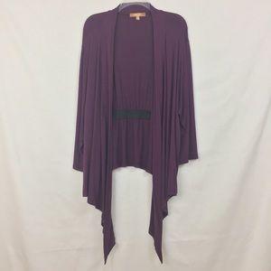 ELLEN TRACY | Purple Cardigan Women's 3X
